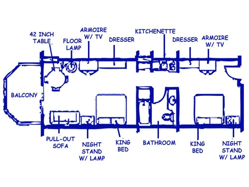 two room suite floorplan